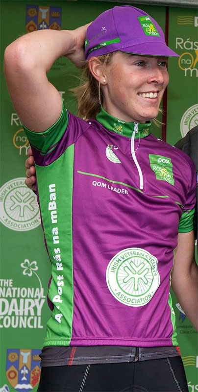 Hannah Barnes (DID Racing) wearing the IVCA Queen of the Mountains jersey