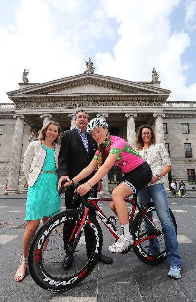Rachel Kaye Mellor at announcement of 2014 Rás na mBan