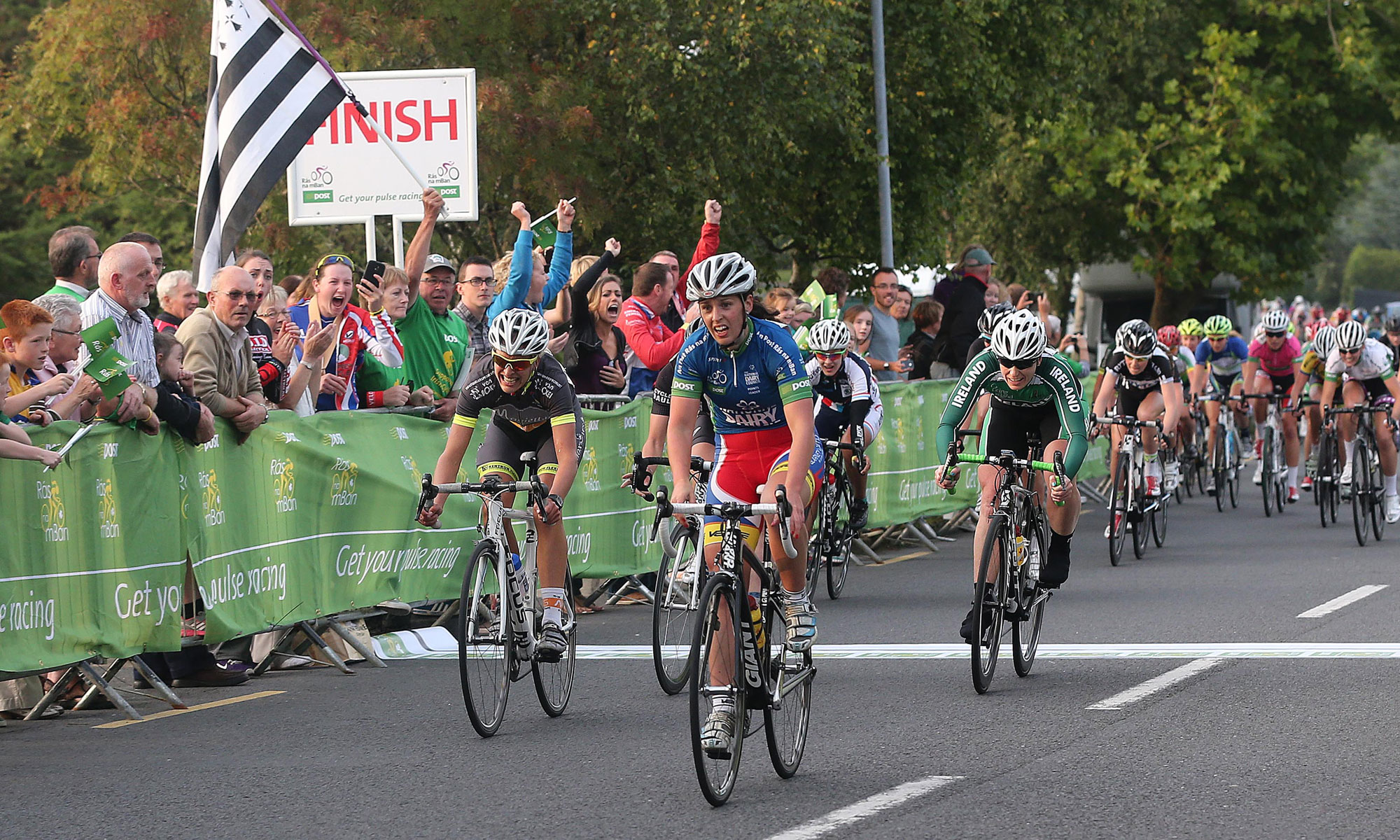 2014 Rás na mBan Stage 4 finish - Fiona Meade