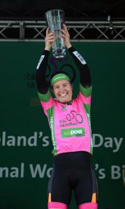 Denmark's Rikke Lonne of Team Crescent Dare winner of the 2016 An Post Rás na mBan